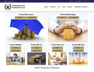 firstcallpaymentprotection.co.uk screenshot
