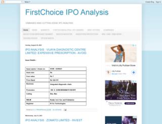 firstchoiceipoanalysis.com screenshot