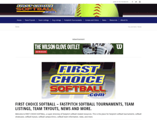 firstchoicesoftball.com screenshot
