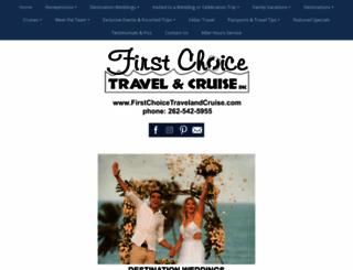 firstchoicetravelandcruise.com screenshot