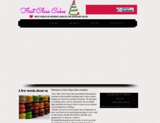 firstclasscakes.com screenshot