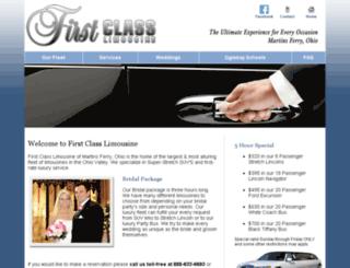 firstclasslimowv.com screenshot