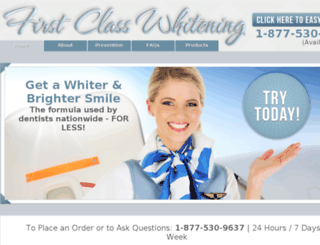 firstclasswhitening.com screenshot