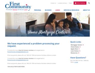 firstcommunity.mortgagewebcenter.com screenshot