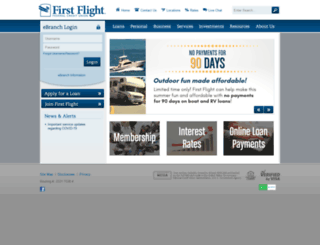 firstflightfcu.org screenshot