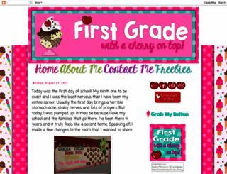 firstgradewithacherryontop.blogspot.com screenshot