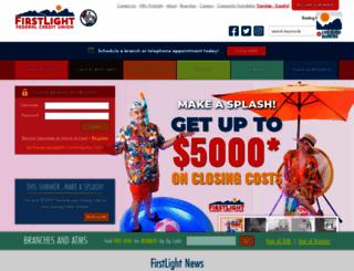 firstlightfcu.org screenshot
