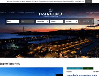 firstmallorca.com screenshot