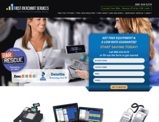 firstmerchantservices.com screenshot
