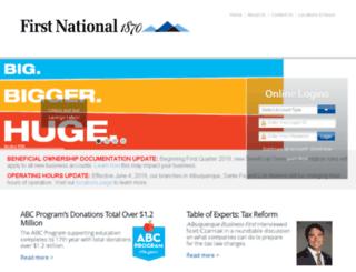 firstnationalsantafe.com screenshot