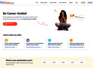 firstnaukri.com screenshot