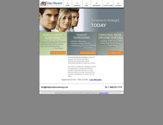 firstpriorityscreening.com screenshot