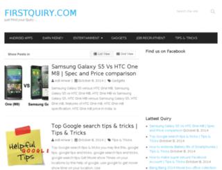 firstquiry.com screenshot
