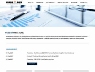 firstreit.listedcompany.com screenshot