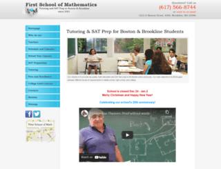 firstschoolofmath.com screenshot