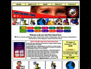 firstschoolyears.com screenshot