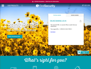 firstsecuritybank.org screenshot