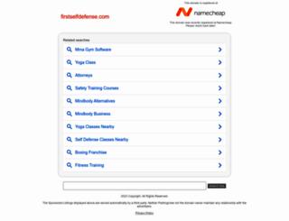 firstselfdefense.com screenshot
