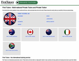 firsttutors.ws screenshot