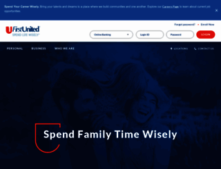 firstunitedbank.com screenshot