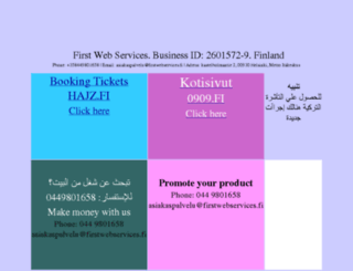 firstwebservices.fi screenshot