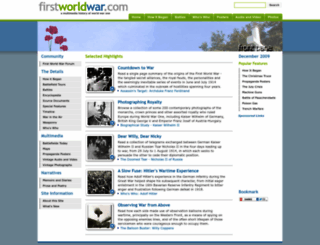 firstworldwar.com screenshot