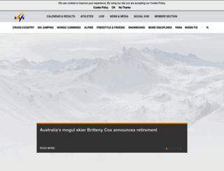 fis-ski.com screenshot