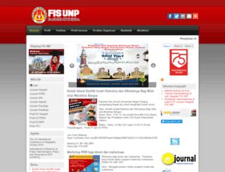 fis.unp.ac.id screenshot