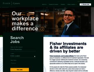 fishercareers.com screenshot