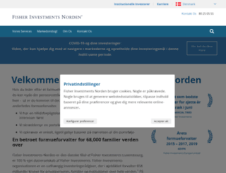 fisherinvestments.dk screenshot