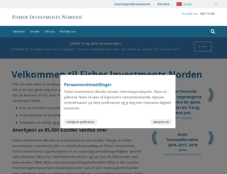 fisherinvestments.no screenshot