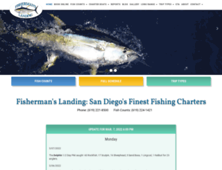 fishermanslanding.com screenshot