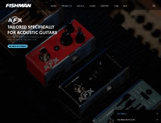 fishman.com screenshot