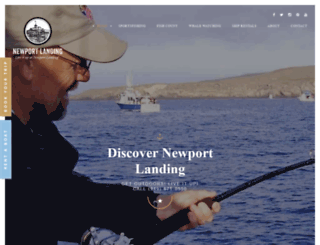 fishnewportlanding.com screenshot