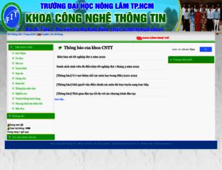fit.hcmuaf.edu.vn screenshot
