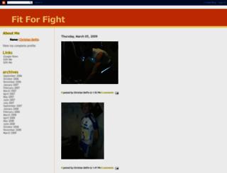 fitforfight-delfin.blogspot.fr screenshot
