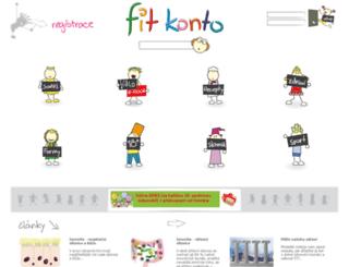 fitkonto.cz screenshot