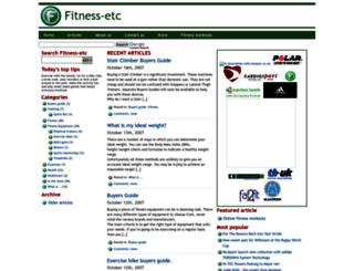 fitness-etc.co.uk screenshot