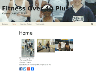 fitness-over-40-plus.com screenshot