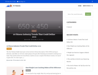 fitness-training-at-home.com screenshot
