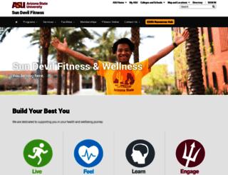 fitness.asu.edu screenshot