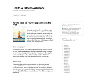 fitnessadvisory.org screenshot