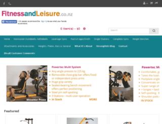 fitnessandleisure.co.nz screenshot