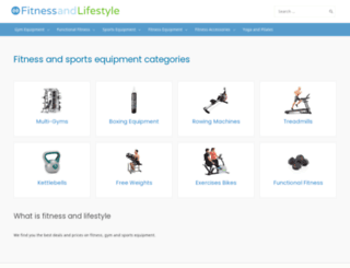 fitnessandlifestyle.co.uk screenshot