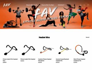 fitnessav.com screenshot