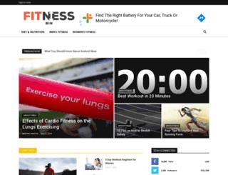 fitnessbin.com screenshot