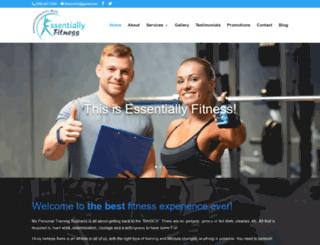 fitnessessentially.ca screenshot