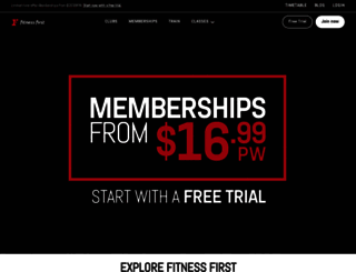 fitnessfirst.com.au screenshot