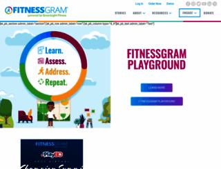fitnessgram.net screenshot