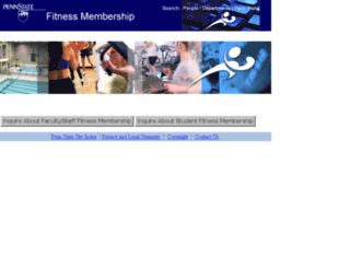 fitnessmembership.psu.edu screenshot